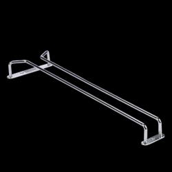 "Chrome glass hangers 25cm/10"""