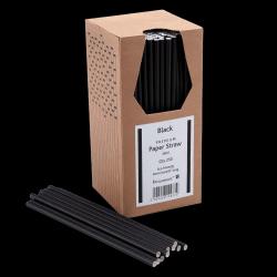 20cm Black Paper Straws PK250