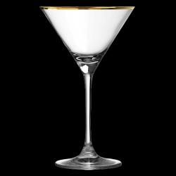 Verdot Gold Rim Martini...