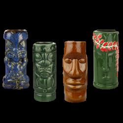 Single Box of 4 Tiki Mugs