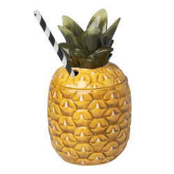 Ceramic Pineapple Tiki Mug...